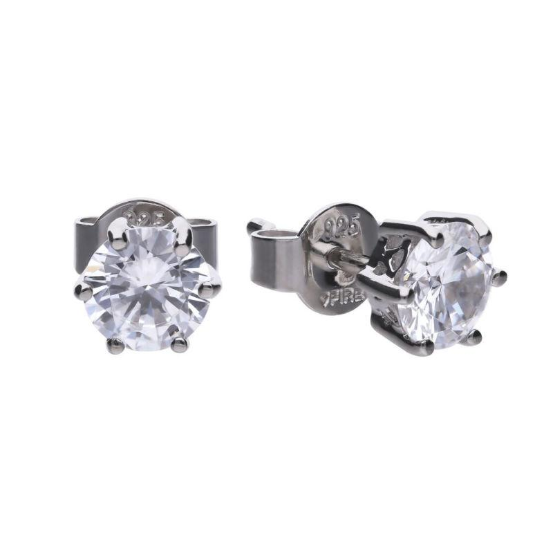 Diamonfire 1.5 carat CZ solitaire stud earrings with claw setting