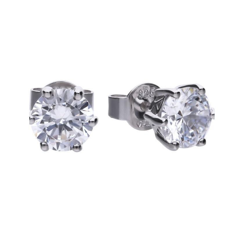 Diamonfire 2 Carat Cubic Zirconia Solitaire Stud Earrings Jewellery DIAMONFIRE