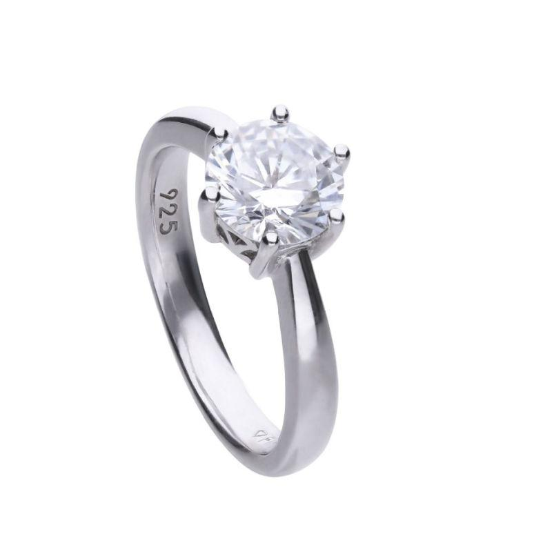 Diamonfire 2 carat CZ solitaire ring