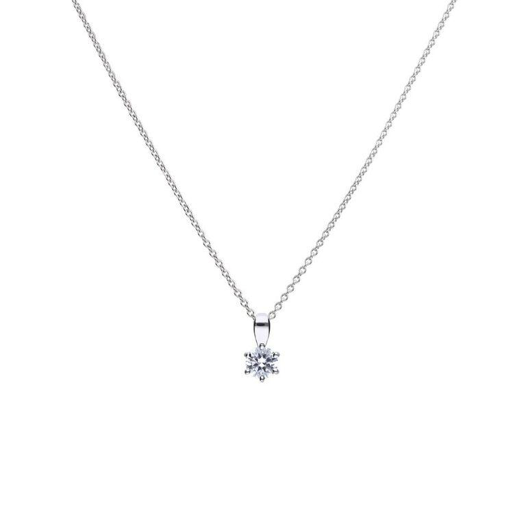 Diamonfire .25-Carat Solitaire Cubic Zirconia Pendant Jewellery DIAMONFIRE