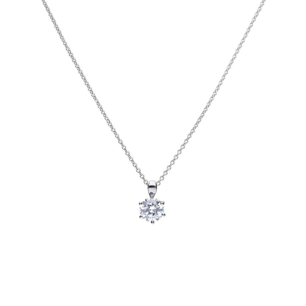 Diamonfire 2-Carat Solitaire Cubic Zirconia Pendant Jewellery DIAMONFIRE
