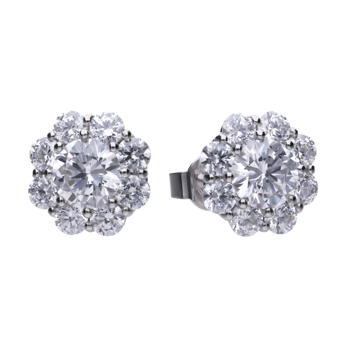 Diamonfire  Flower Cluster CZ Earrings