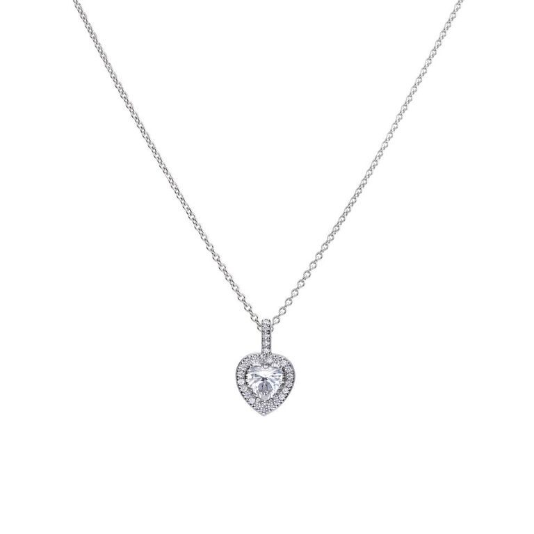Diamonfire Heart-Shaped Pave Cubic Zirconia Pendant