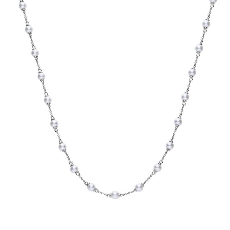 Diamonfire Sheall Pearl necklace with cubic zirconia