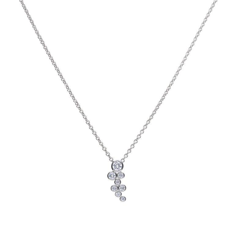 Diamonfire Rubover Cluster Pendant with Cubic Zirconia
