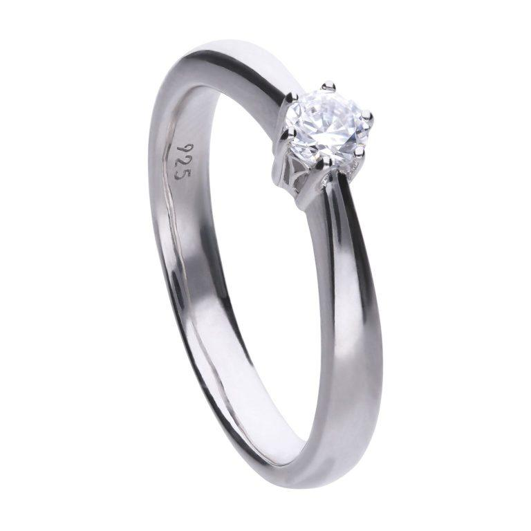 Diamonfire 0.25 carat sized cubic zirconia solitaire ring