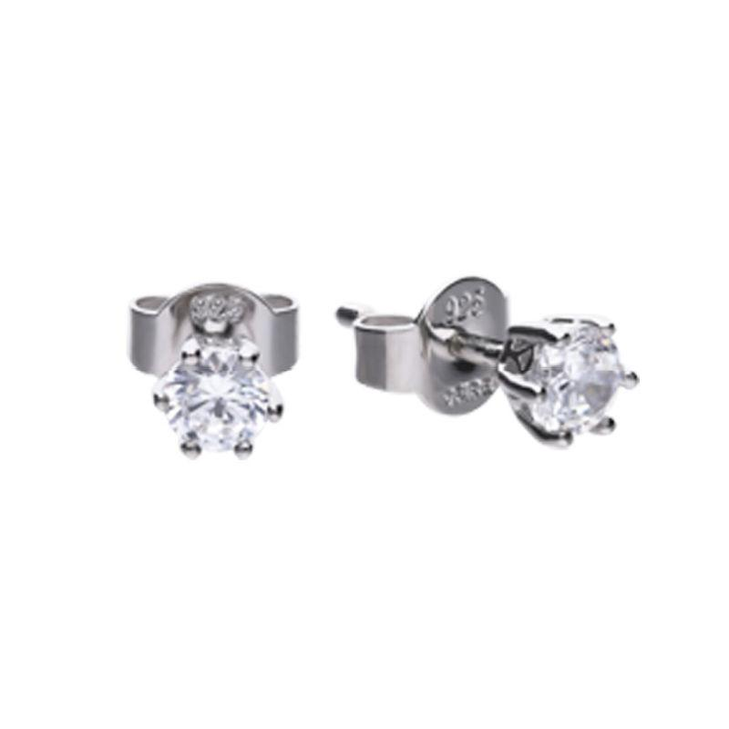 Diamonfire 0.5 Carat Cubic Zirconia Solitaire Stud Earrings Jewellery DIAMONFIRE
