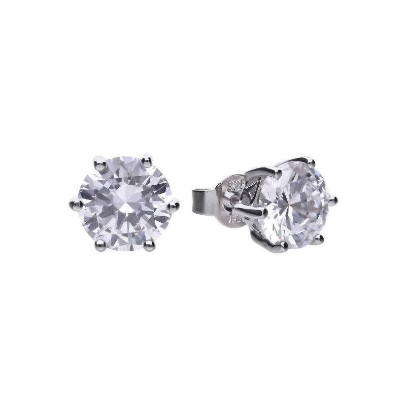 Diamonfire 4-Carat Cubic Zirconia Solitaire Stud Earrings Jewellery DIAMONFIRE