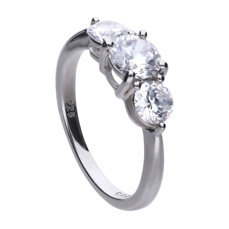Diamonfire Trilogy Zirconia Ring Jewellery DIAMONFIRE K