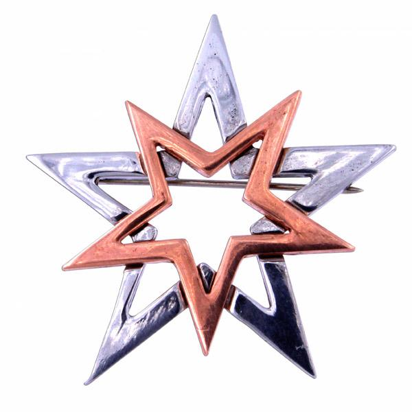 Double Star Brooch Brooches St Justin