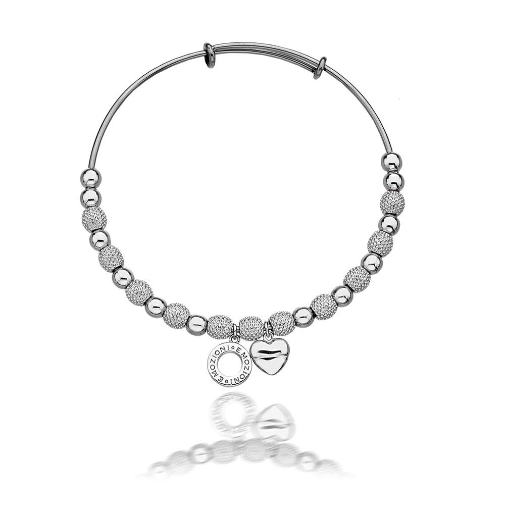 Emozioni Silver Plated Ula Bangle
