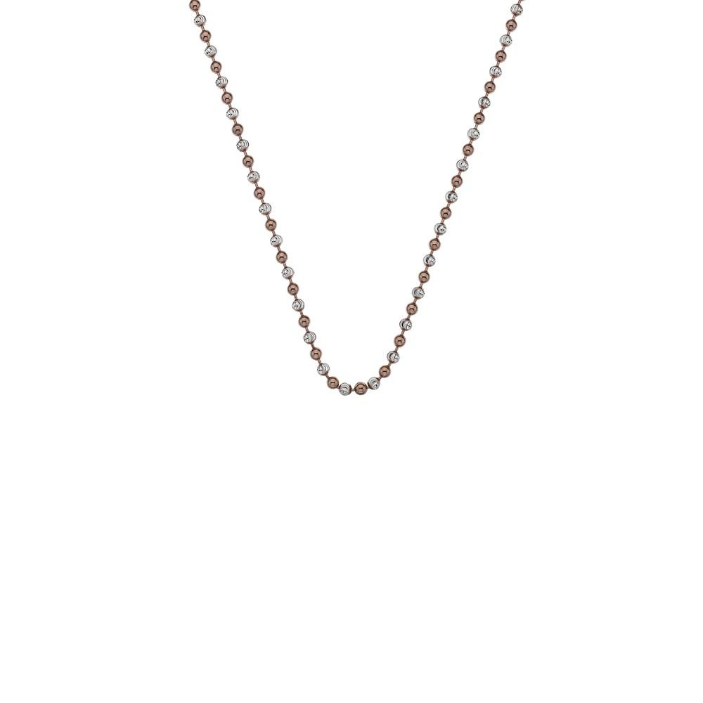Silver and Rose Gold Plated Beaded Necklace Chain