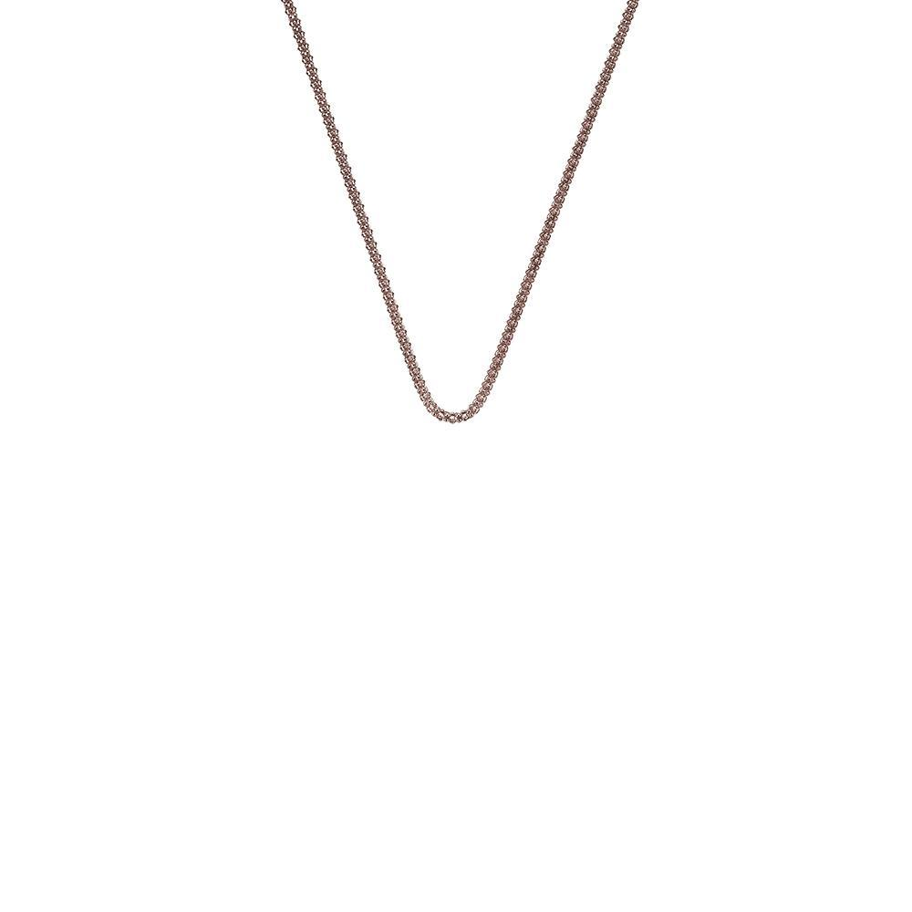 Rose Gold plated Sterling Silver Popcorn necklace chain