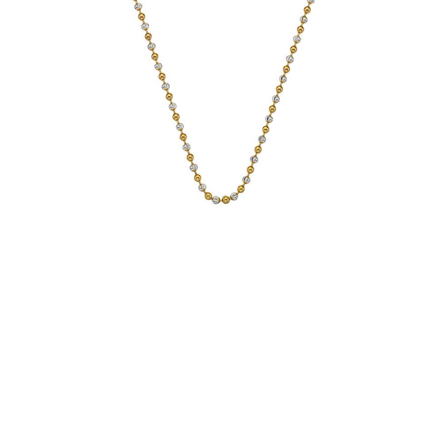 Silver and Yellow Gold plated Accent Bead Chain