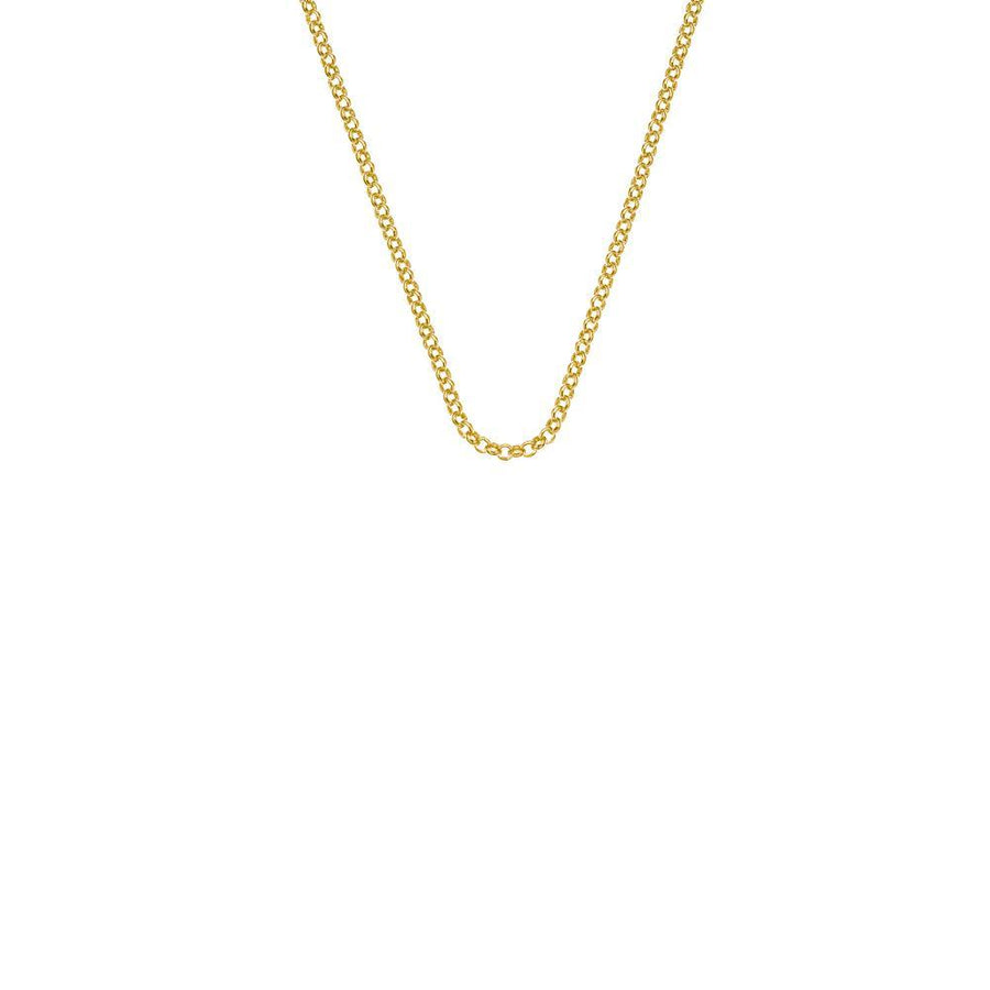 Yellow Gold plated Sterling Silver Belcher necklace chain