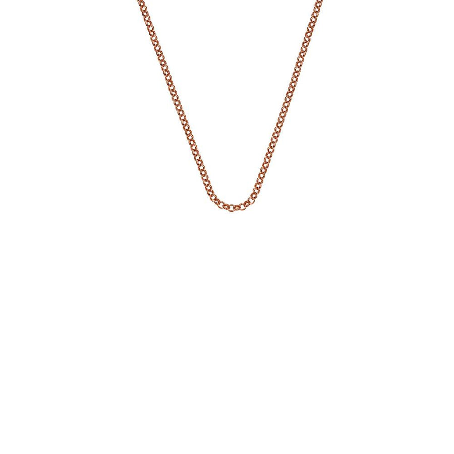 Rose Gold plated Sterling Silver Belcher necklace chain