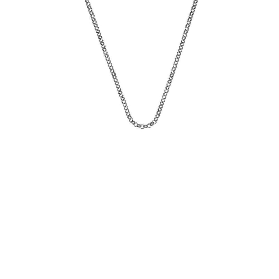 A silver belcher chain necklace