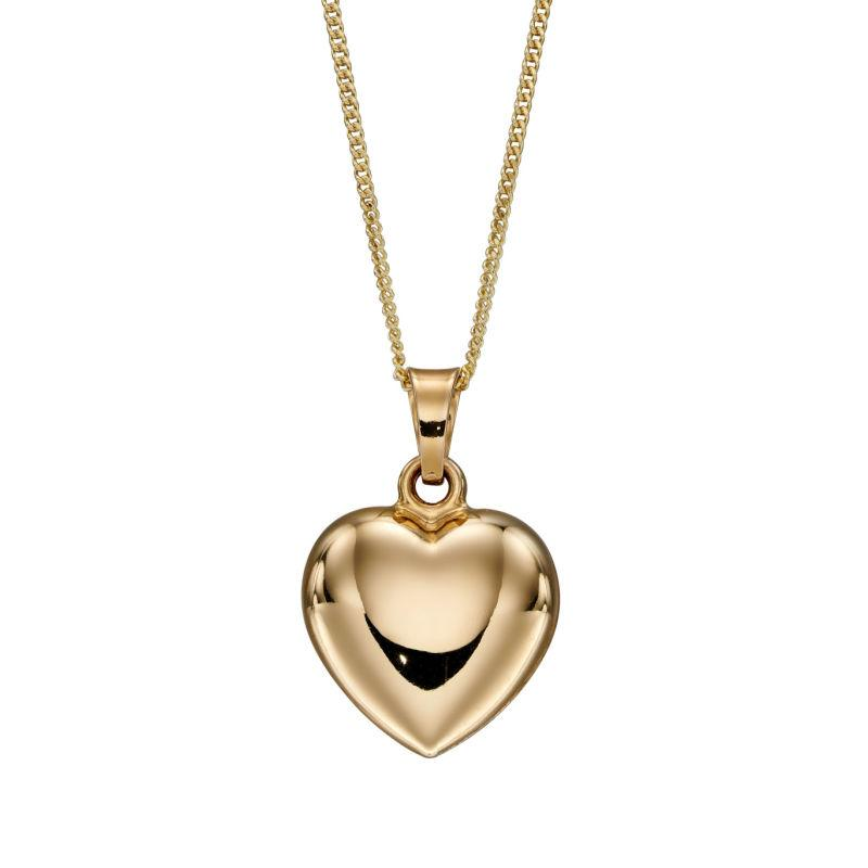 Engravable Gold Heart Pendant Necklaces & Pendants Gecko
