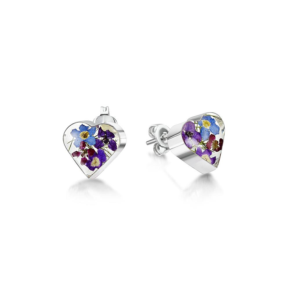 Flower Jewellery Heart Stud Earrings
