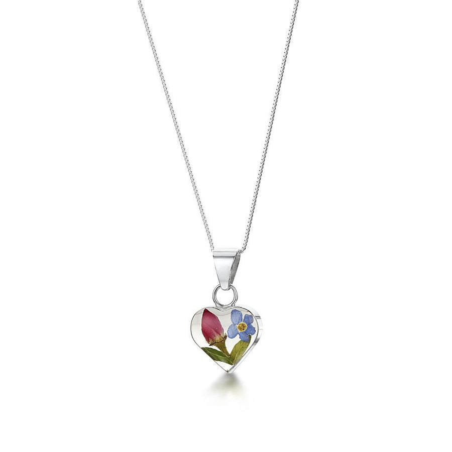 Flower Jewellery Rose necklace with Forget Me Nots