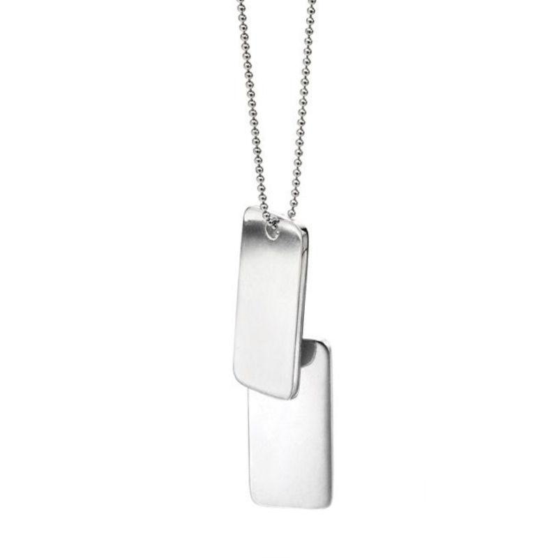 Fred Bennett Men's Double Dog Tag in Silver (Can be Engraved) Men's Necklaces & Pendants FRED BENNETT