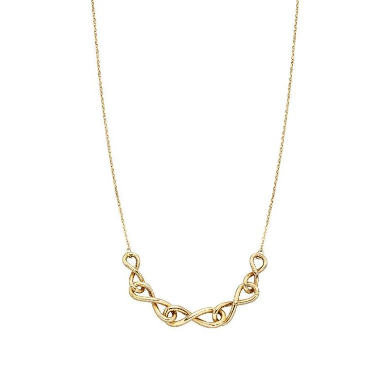 Gold Infinity Link Necklace Jewellery Gecko