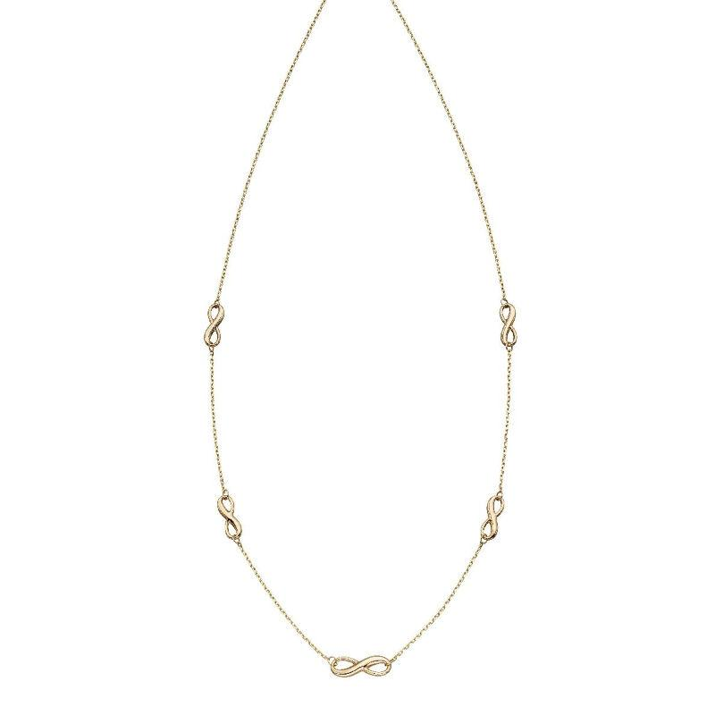 Gold infinity sign necklace