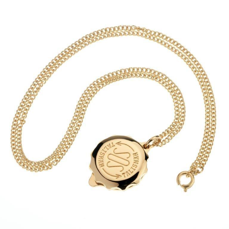 Gold-Plated SOS Medical ID Necklace Jewellery SOS Talisman