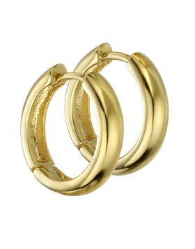 Gold Vermeil Hoop Earrings Jewellery Gecko