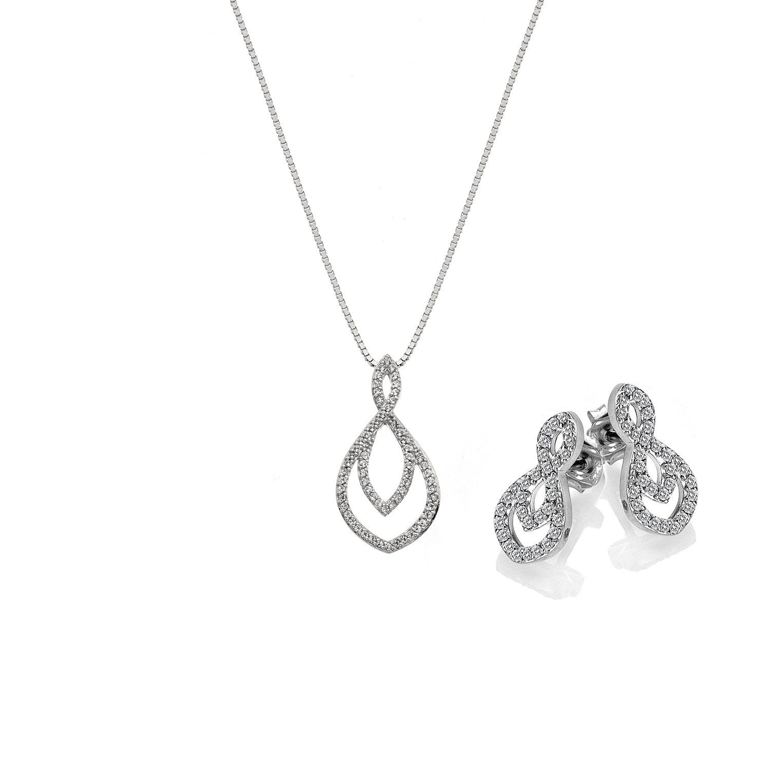 Hot Diamonds Harmony Gift Set - Pendant and Earring Set Jewellery Hot Diamonds