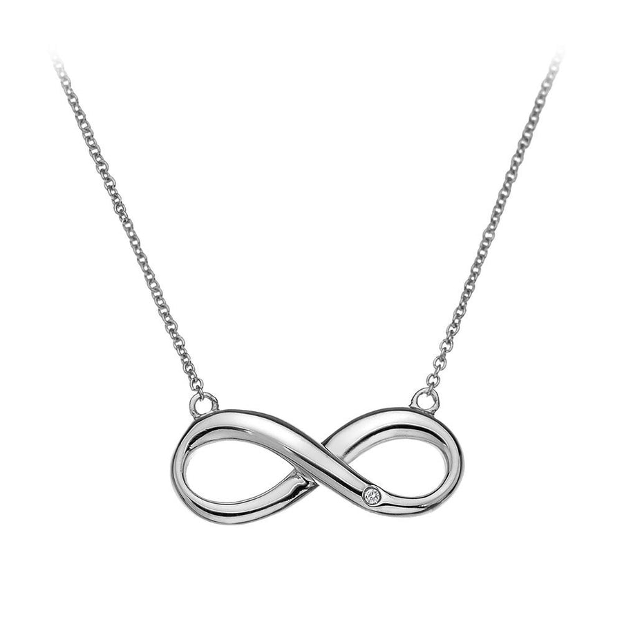 Hot Diamonds Infinity Necklace with Diamond