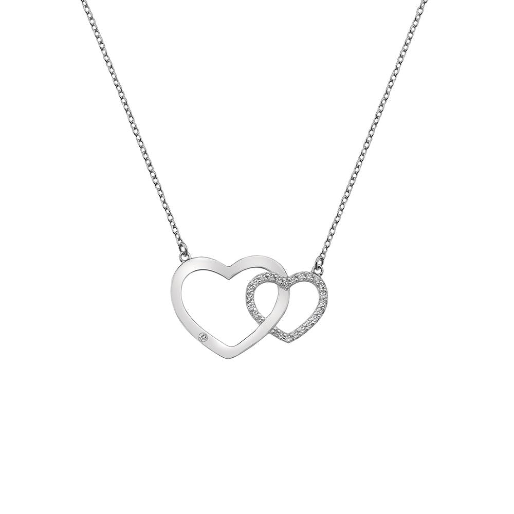 Hot Diamonds Bliss Interlocking Hearts Necklace Jewellery Hot Diamonds