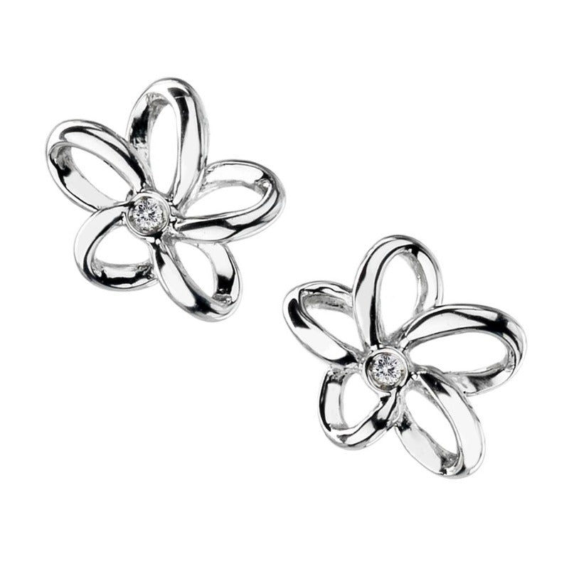 Hot Diamonds Paradise Stud Earrings with Diamond Jewellery Hot Diamonds