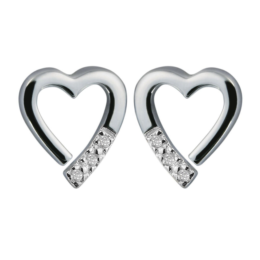 Hot Diamonds Silver 'Memories' Earrings with Diamond