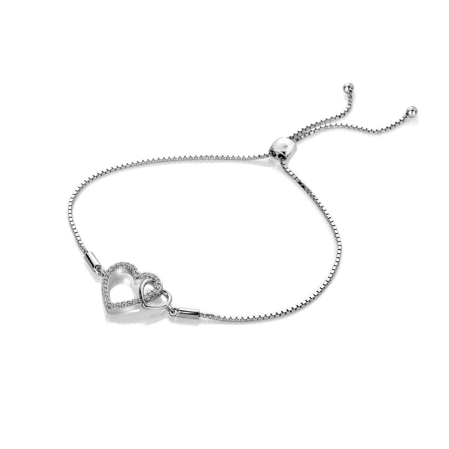 Hot Diamonds Togetherness Friendship Bracelet with Hearts