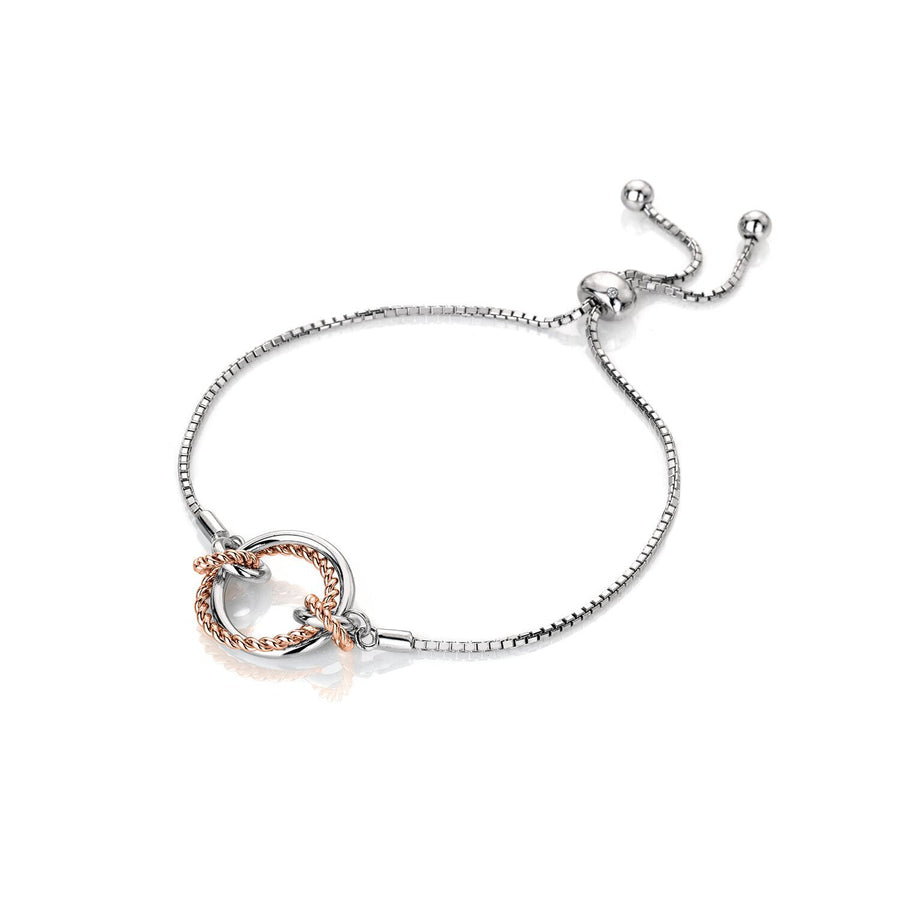 Hot Diamonds Unity Friendship Bracelet with Rose Gold