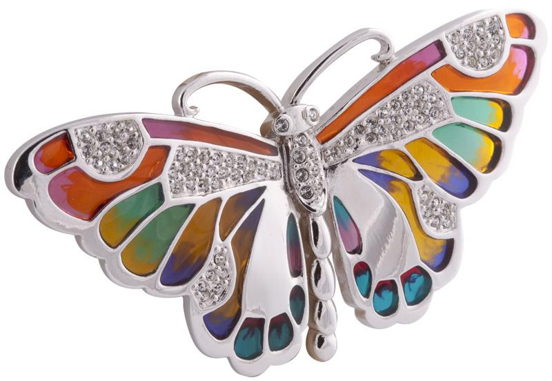 Butterfly Brooch with Coloured Enamel Jewellery Ari D Norman