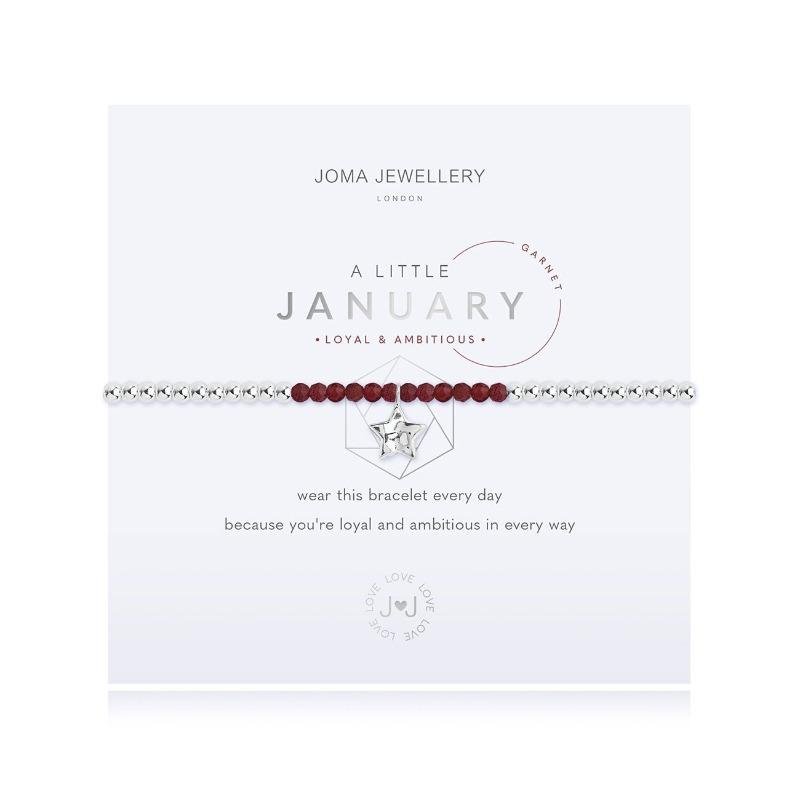 A Little Garnet Birthstone January Birthday Bracelet Jewellery Joma Jewellery