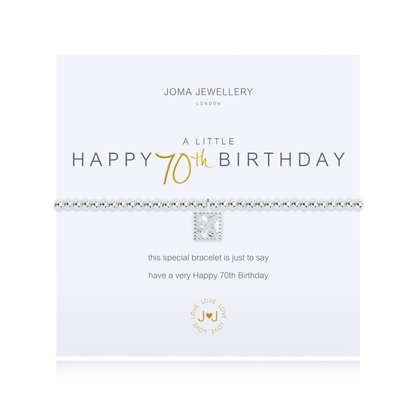 Joma A Little Happy 70th Birthday Bracelet Jewellery JOMA JEWELLERY