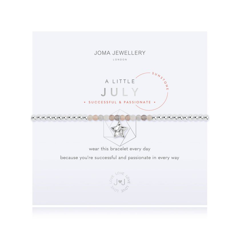 A Little Sunstone July Birthstone Birthday Bracelet Jewellery Joma Jewellery