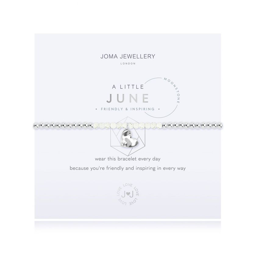 A Little Moonstone June Birthstone Birthday Bracelet Jewellery Joma Jewellery