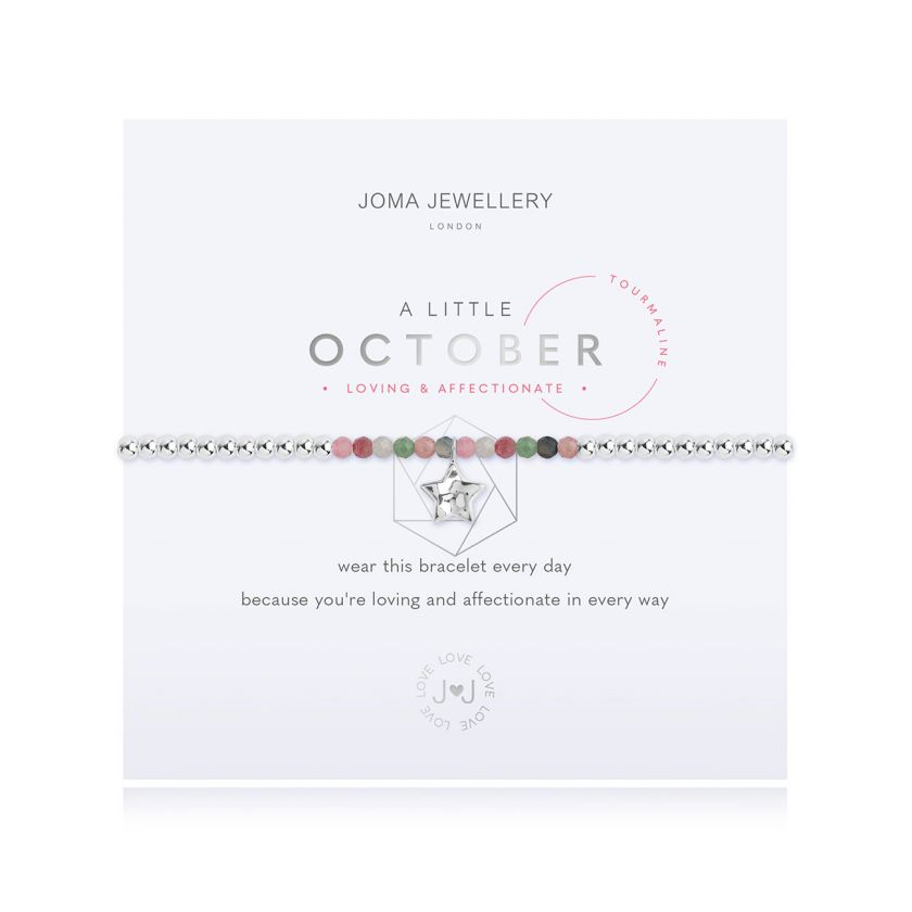 A Little Tourmaline October Birthstone Birthday Bracelet Jewellery Joma Jewellery
