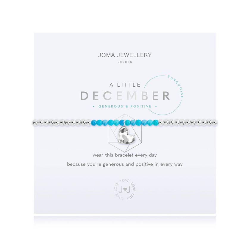 A Little Turquoise December Birthstone Birthday Bracelet Jewellery Joma Jewellery