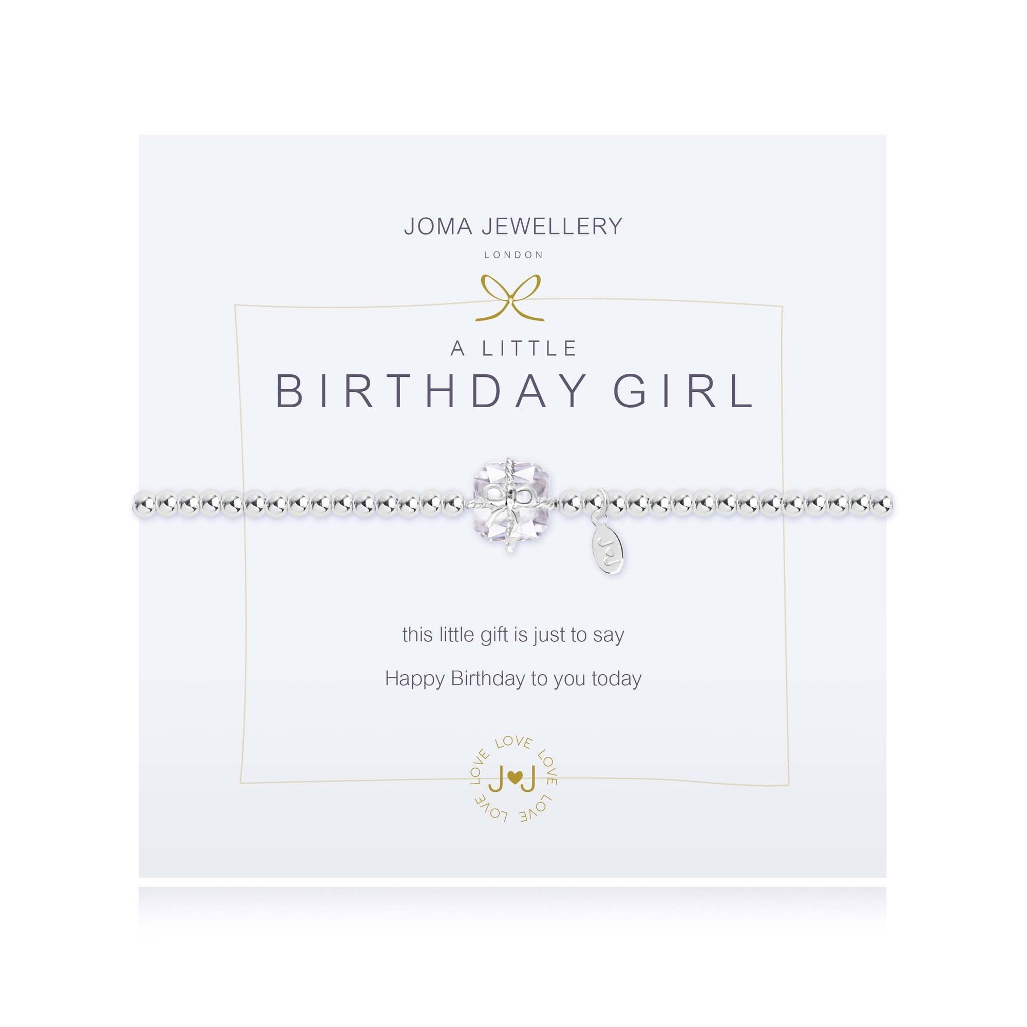 "Joma Jewellery 688""A Little Birthday Girl"" Bracelet Jewellery Joma Jewellery"