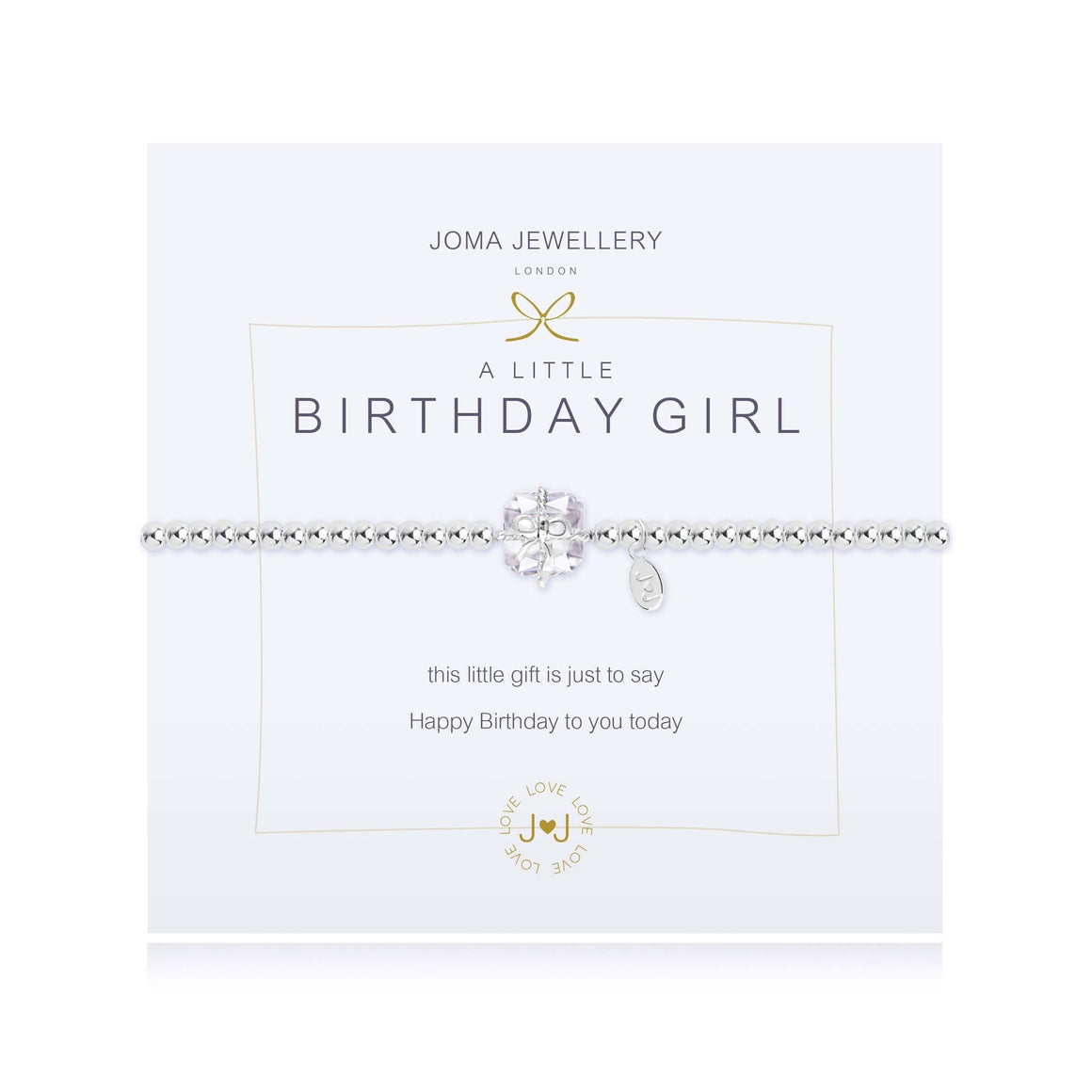 "Joma Jewellery 688""A Little Birthday Girl"" Bracelet"