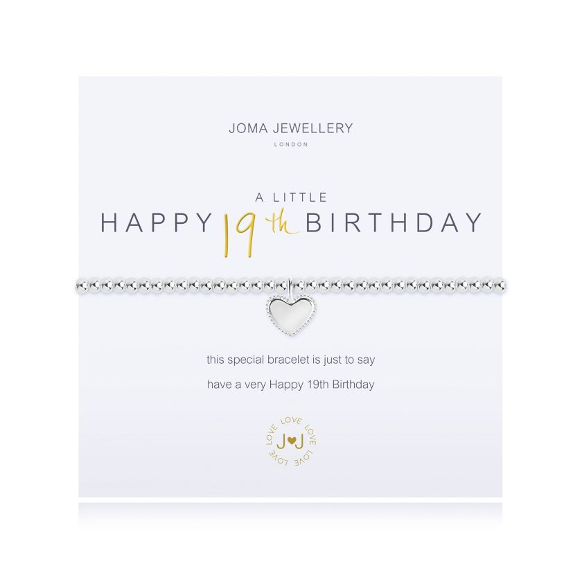 Joma Jewellery 2670 'A Little Happy 19th Birthday' bracelet