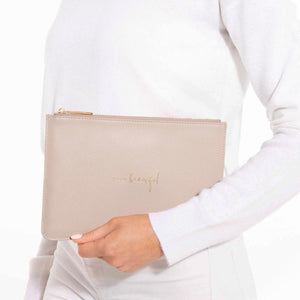 "Katie Loxton ""Hello Beautiful"" Pouch in Pink Gifts Katie Loxton"