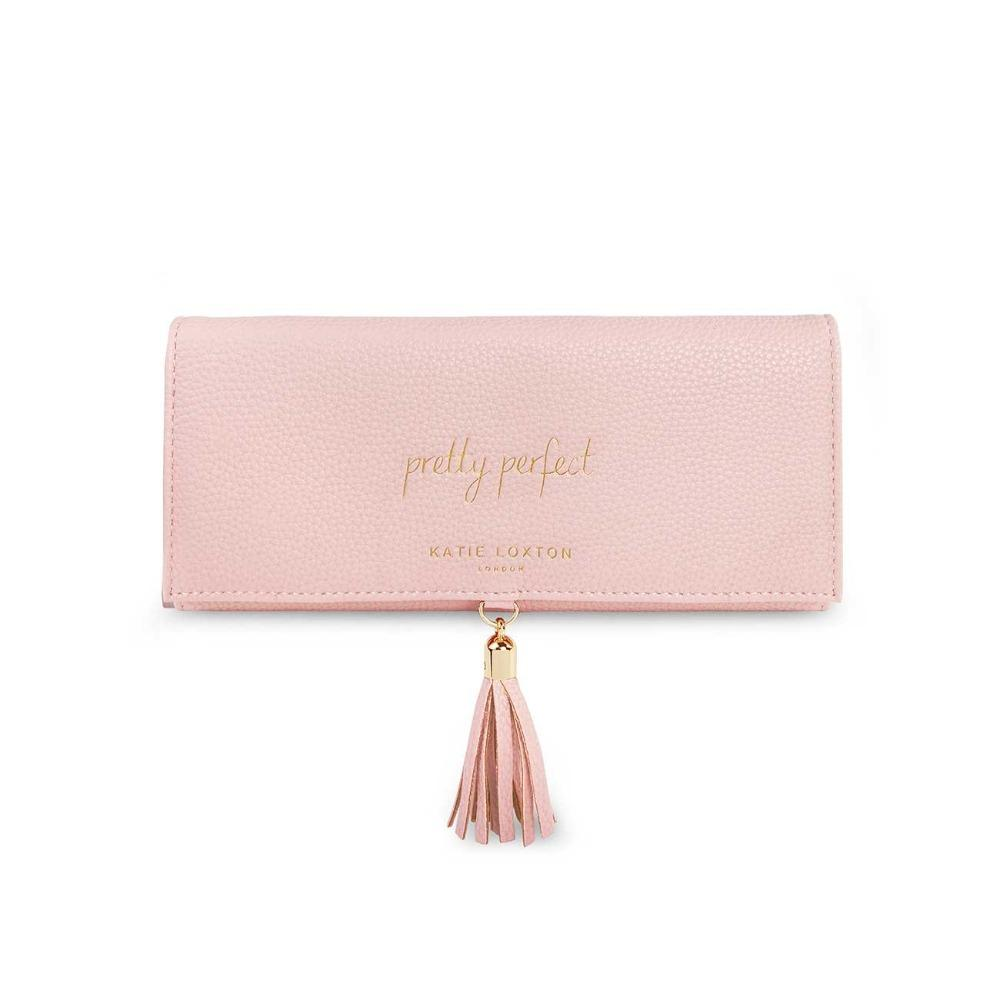 Katie Loxton Jewellery Roll with Tassel in Pink Gifts Katie Loxton