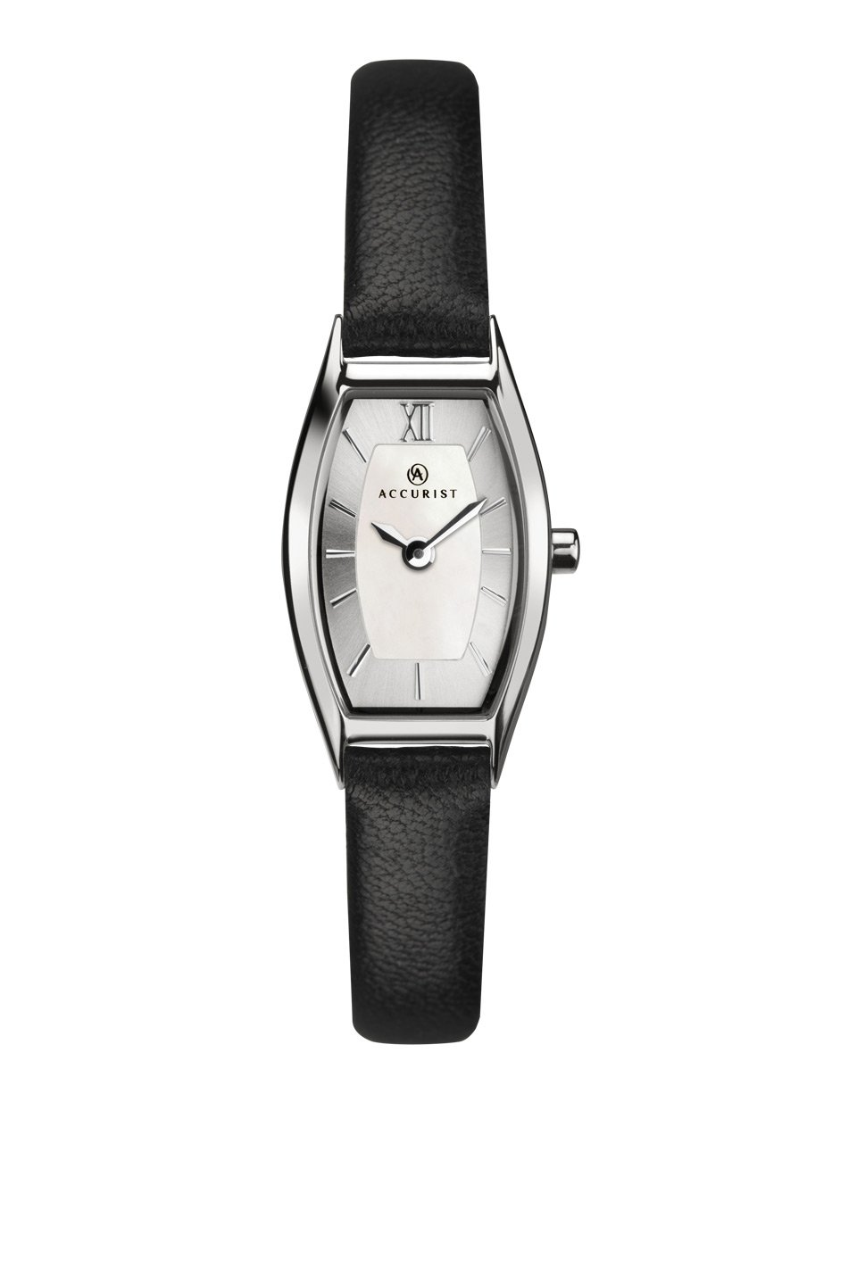 Ladies Accurist Watch with Black Strap 8274