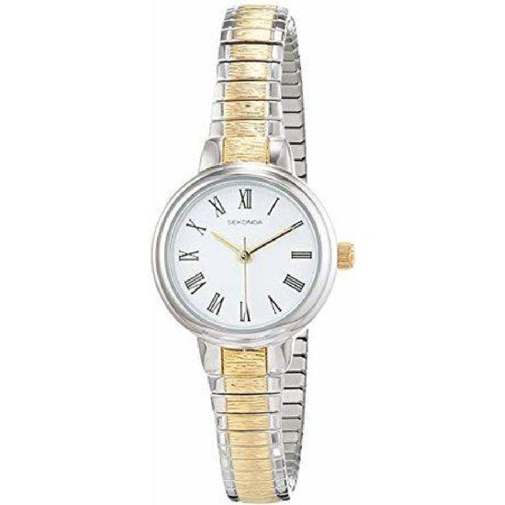 Sekonda Two-Tone Ladies Watch with Expanding Strap 2881 Watches Sekonda